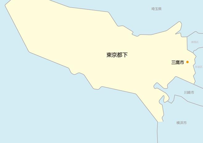 東京都下マップ
